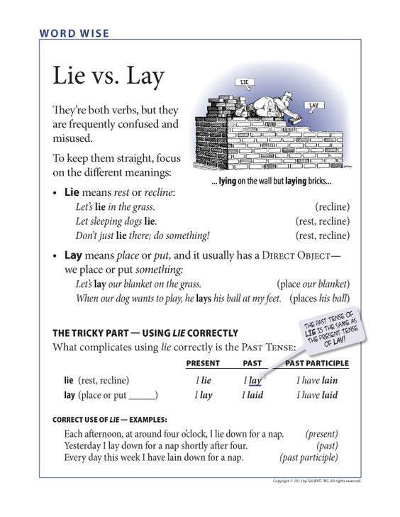 Lay Vs Lie Evil English